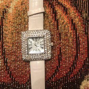 Quartz white watch